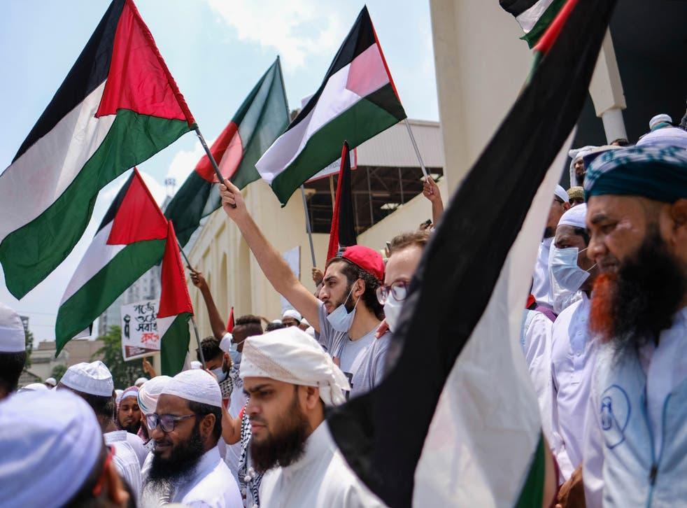 APTOPIX Bangladesh Israel Palestinians