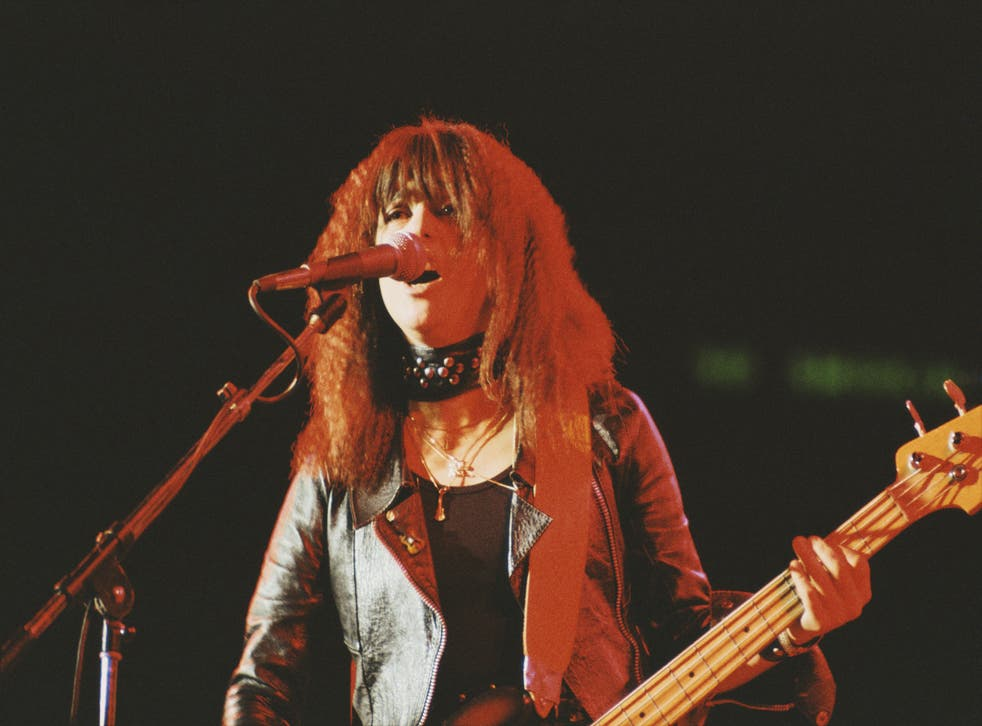 <p>Hell for leather: Suzi Quatro at the height of her chart success in the 1970s</p>