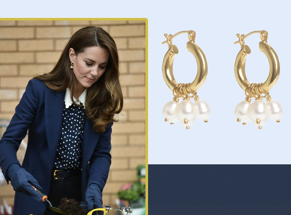 <p>Kate wore the earrings during a visit to mark Mental Health Awareness Week</p>