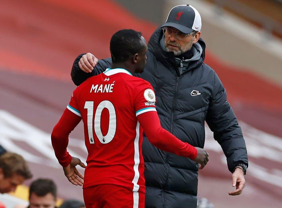 Jurgen Klopp played down any friction with Sadio Mane