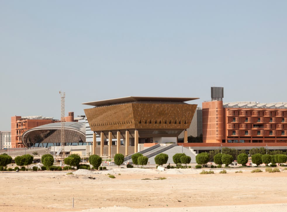 <p>Masdar City's Institute of Science and Technology entire complex is built on the principles of renewable energy</p>