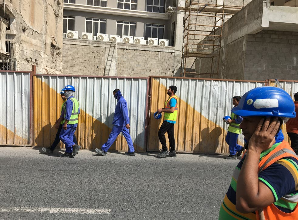 Malcom Bidali wrote about the conditions faced by workers in Qatar