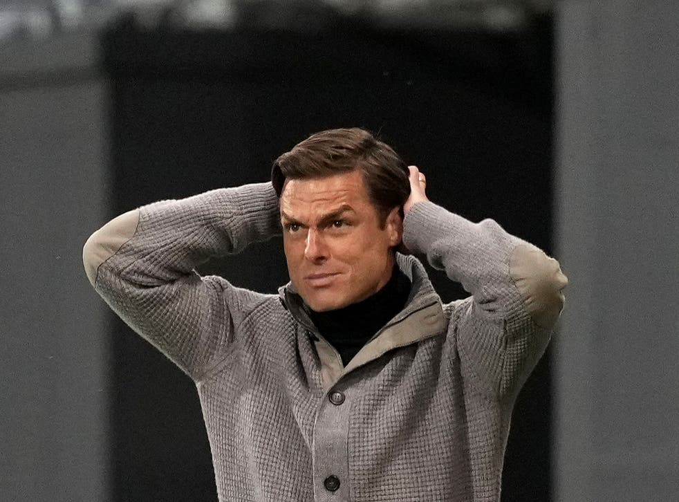 Scott Parker reacts as his Fulham side are relegated