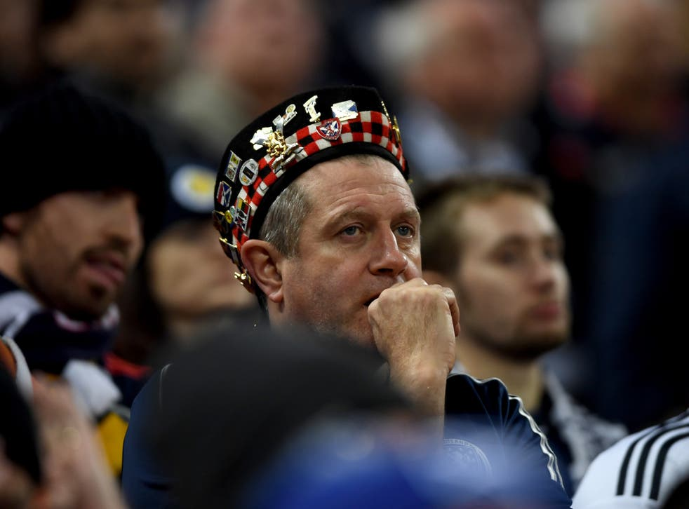 Scotland fans during their side's match against England at Wembley in November 2018