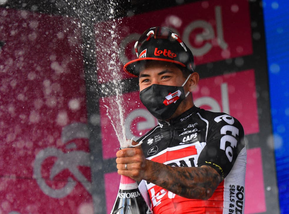 Caleb Ewan won the fifth stage of the Giro before claiming stage seven