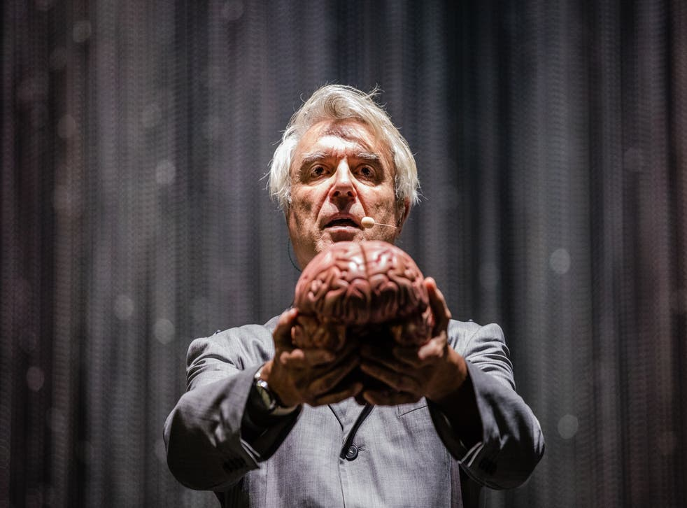 David Byrne performs at Rock Werchter Festival in July 2018