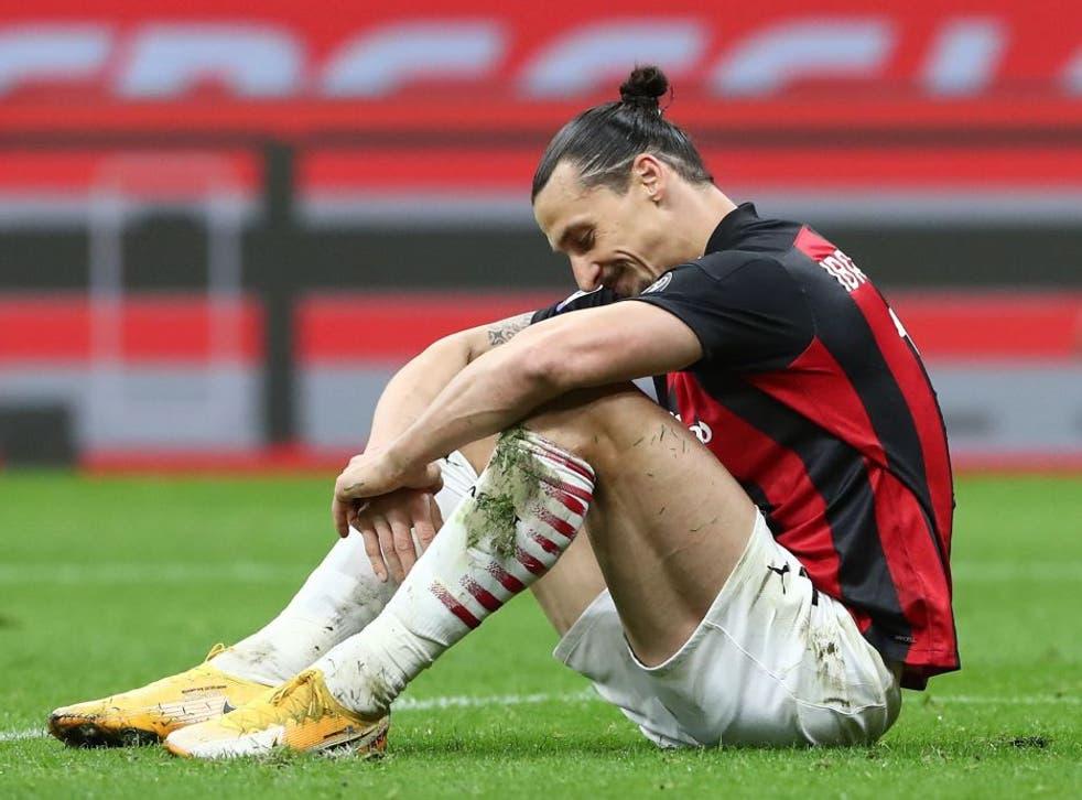 Zlatan Ibrahimovic has suffered a knee injury