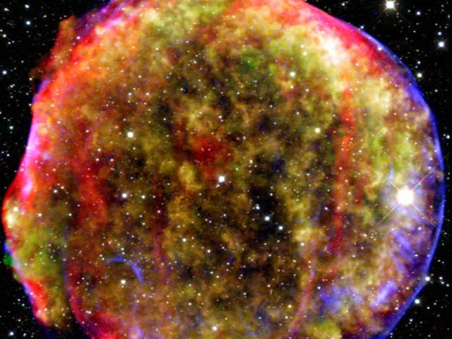 This file photo from 2015 shows a remnant of the Tycho supernova