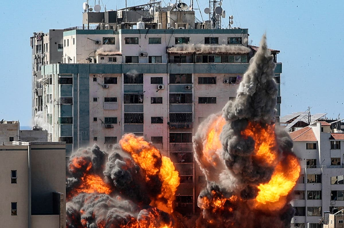 Biden calls Netanyahu and Abbas as anger grows at Israel over airstrike on journalists' tower