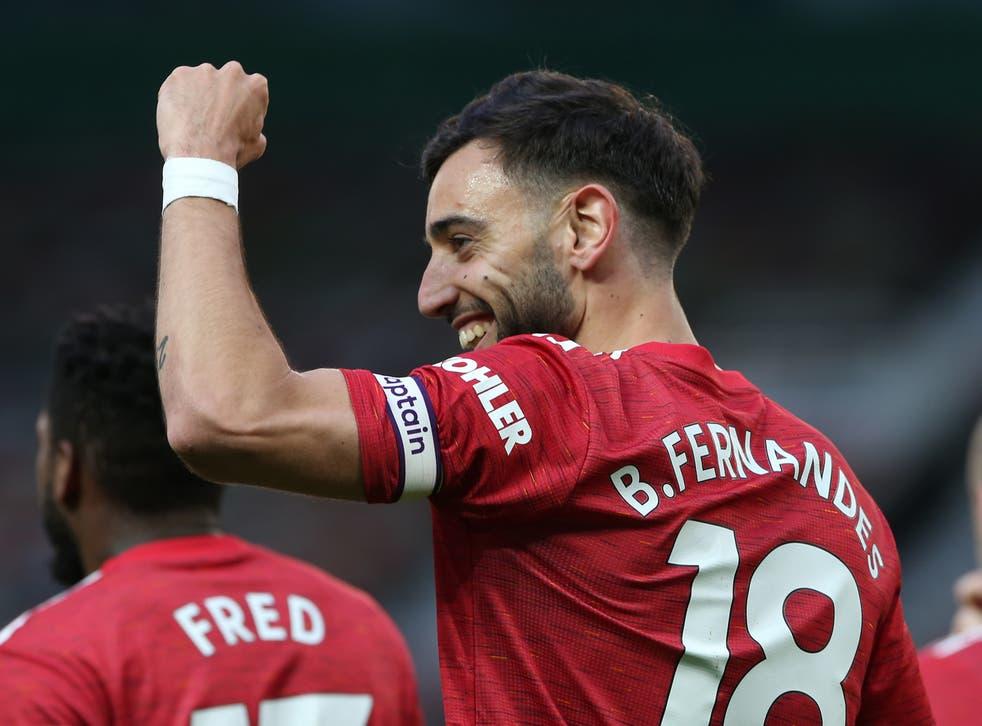 Manchester United midfielder Bruno Fernandes