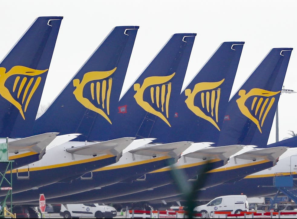 Much of Ryanair's fleet has remained grounded over the past year due to the pandemic
