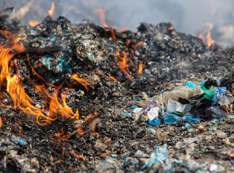 Greenpeace investigators found UK plastics burned at Adana province site
