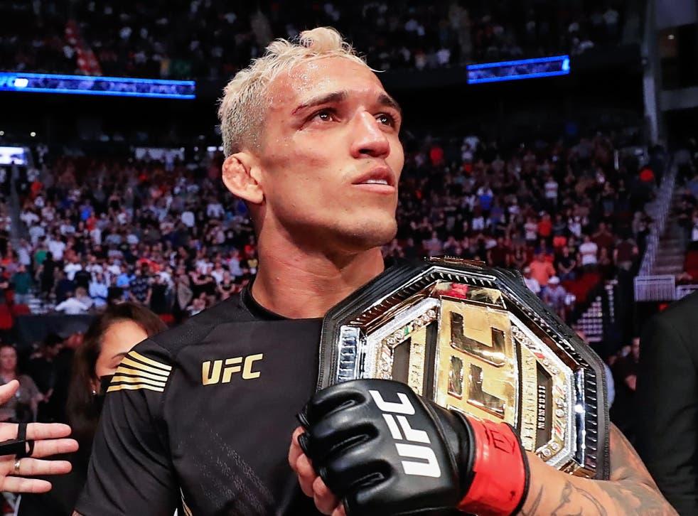 UFC lightweight champion Charles Oliveira