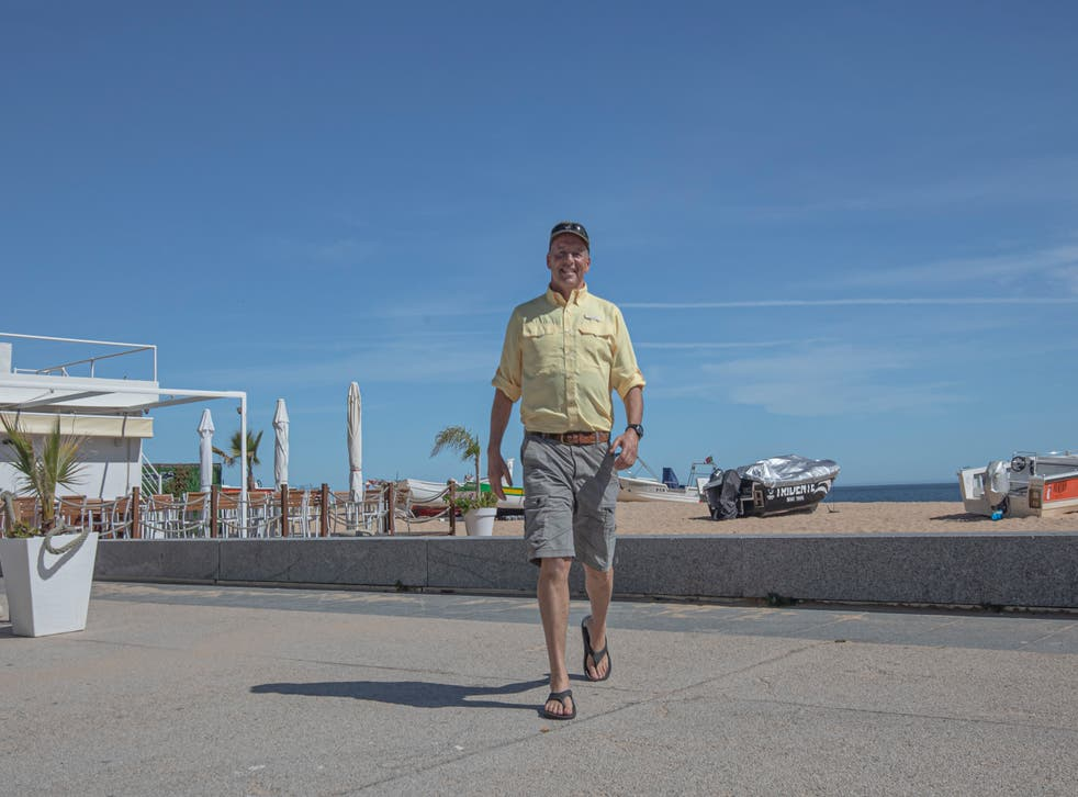 <p>Angry man on a lonely planet: Paul Goldstein in Portugal</p>