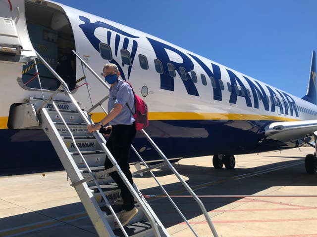 Private jet: Simon Calder is the 13th passenger to board the flight from Faro to Stansted