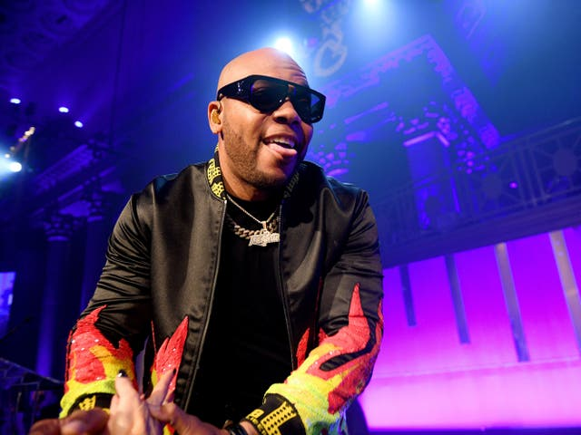 Flo Rida on stage in 2019