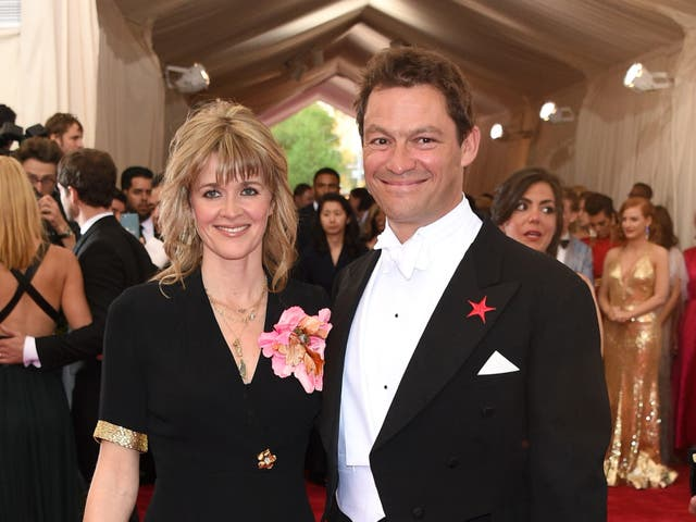 Catherine FitzGerald and Dominic West at the Met Gala on 4 May 2015 in New York City