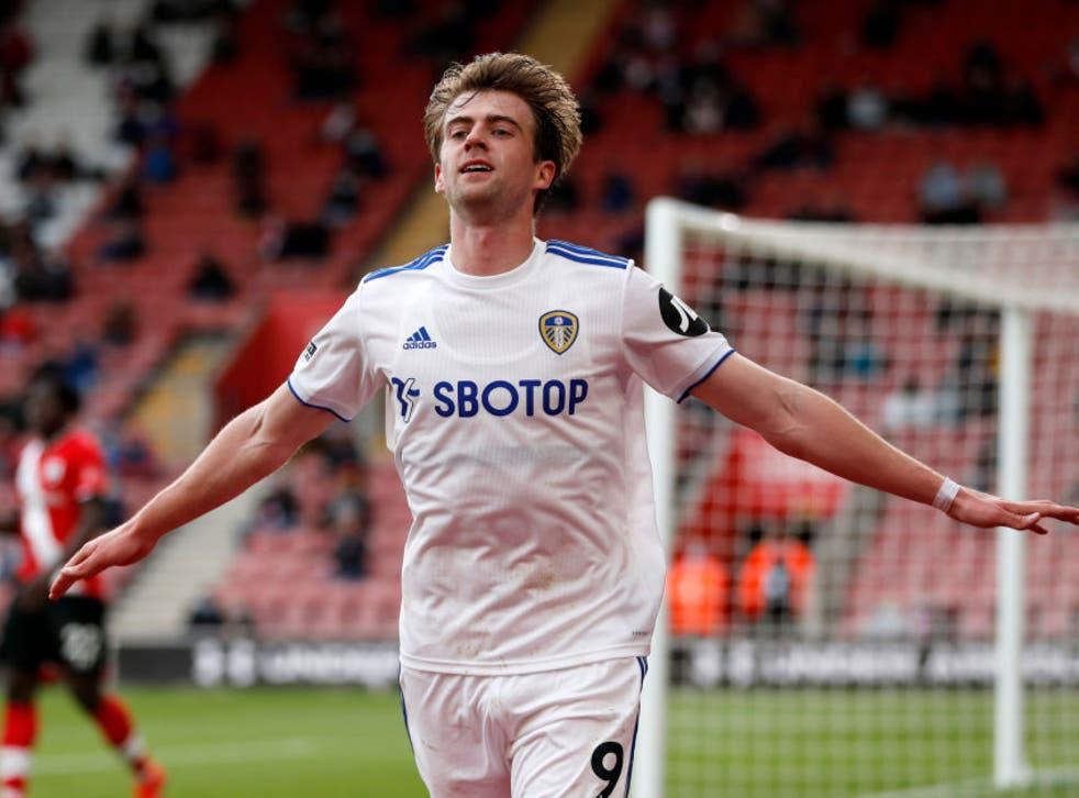 Patrick Bamford celebrates putting Leeds in front