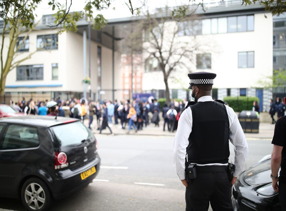 <p>Pupils staged a walkout protest at Pimlico Academy in March</p>