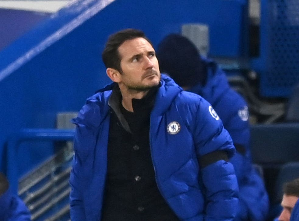 Frank Lampard during his time as Chelsea coach