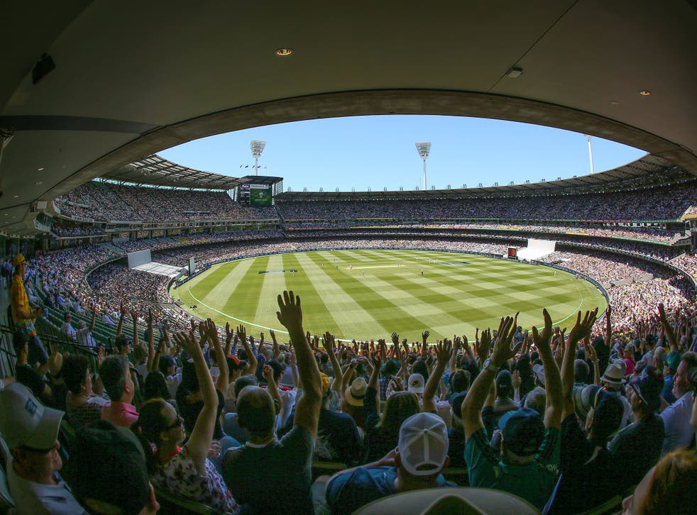 <p>A full crowd at the Boxing Day Test at Melbourne Cricket Ground in 2017</p>