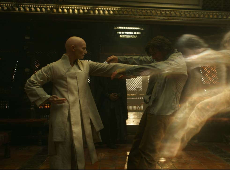 <p>Tilda Swinton and Benedict Cumberbatch in Doctor Strange</p>