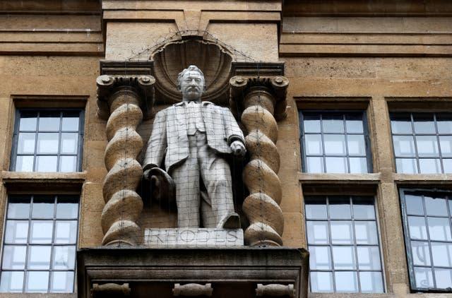<p>Oriel's contentious Cecil Rhodes statue</p>