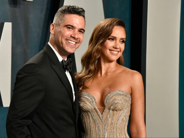"""<p>Jessica Alba """"started crying"""" when her daughter walked in on an intimate moment with husband Cash Warren</p>"""