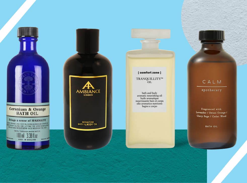 """<p>Uplifting or calming, the beauty of bath oils is that they combine <a href=""""https://www.independent.co.uk/extras/indybest/fashion-beauty/skincare"""">skincare</a> and an at home spa-like experience in one</p>"""