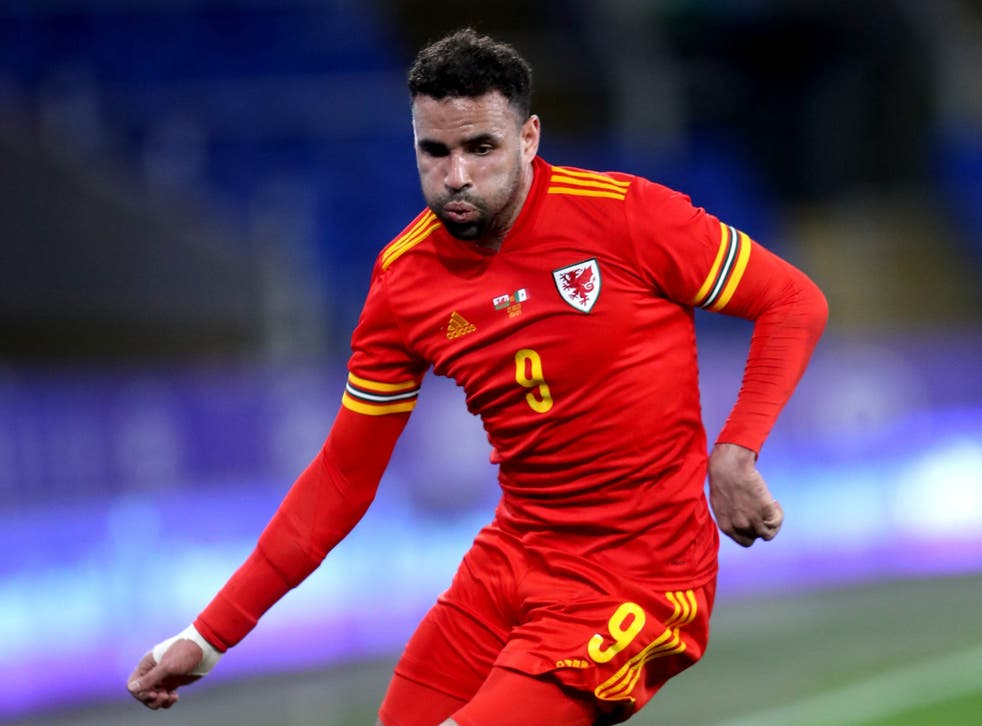 <p>Hal Robson-Kanu in action for Wales</p>