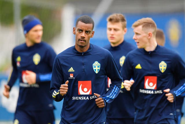 <p>Alexander Isak is one of Sweden's talented youngsters</p>