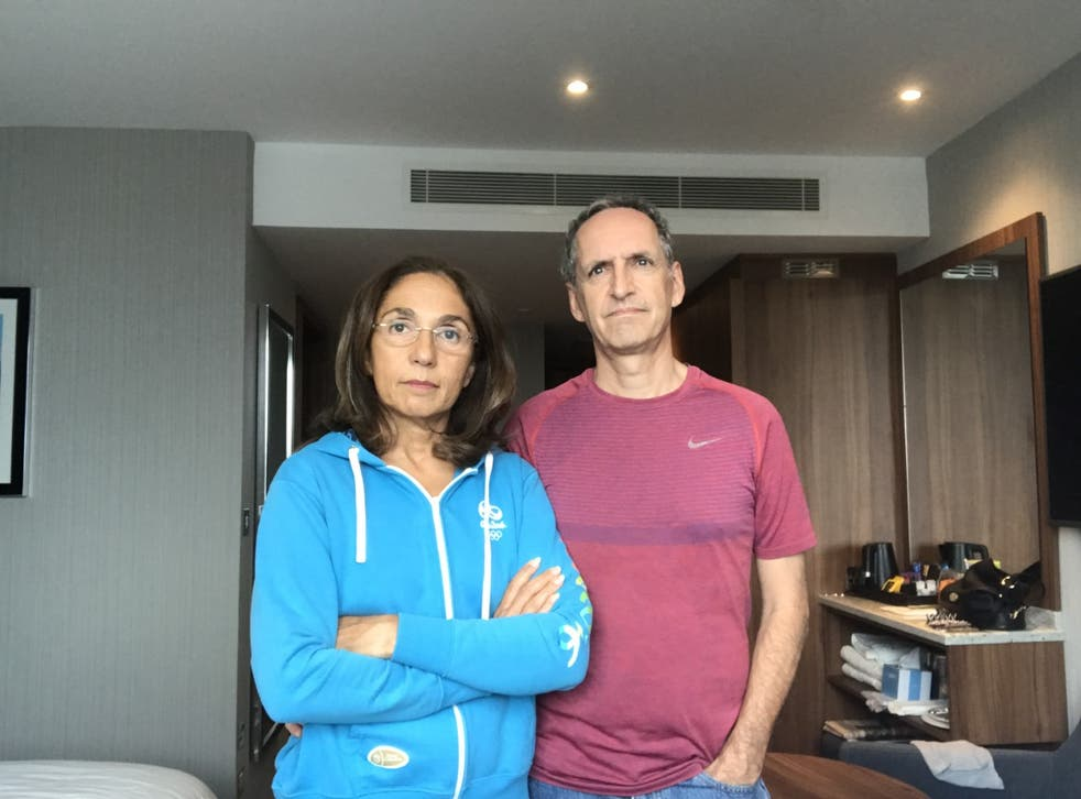 Waiting game: Nadia and David Swan are unable to leave their hotel at Heathrow
