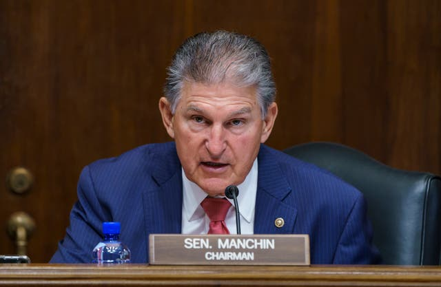<p>Senator Joe Manchin, a centrist Democrat, said he was 'very disappointed' with the vote</p>