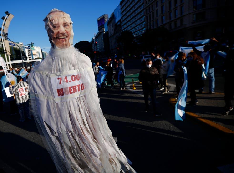 CORONAVIRUS-ARGENTINA PROTESTA