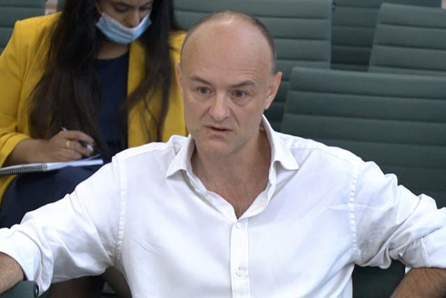 Dominic Cummings giving evidence on Wednesday