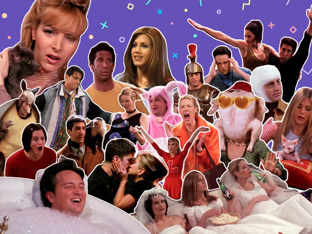 <p>From turkeys and smelly cats to dance routines and brain transplants, just some of the best of 'Friends'</p>