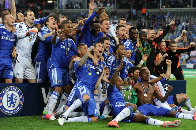 Chelsea were crowned European champions in 2012
