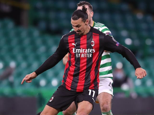 AC Milan's Zlatan Ibrahimovic (left) has been fined over a breach of betting regulations