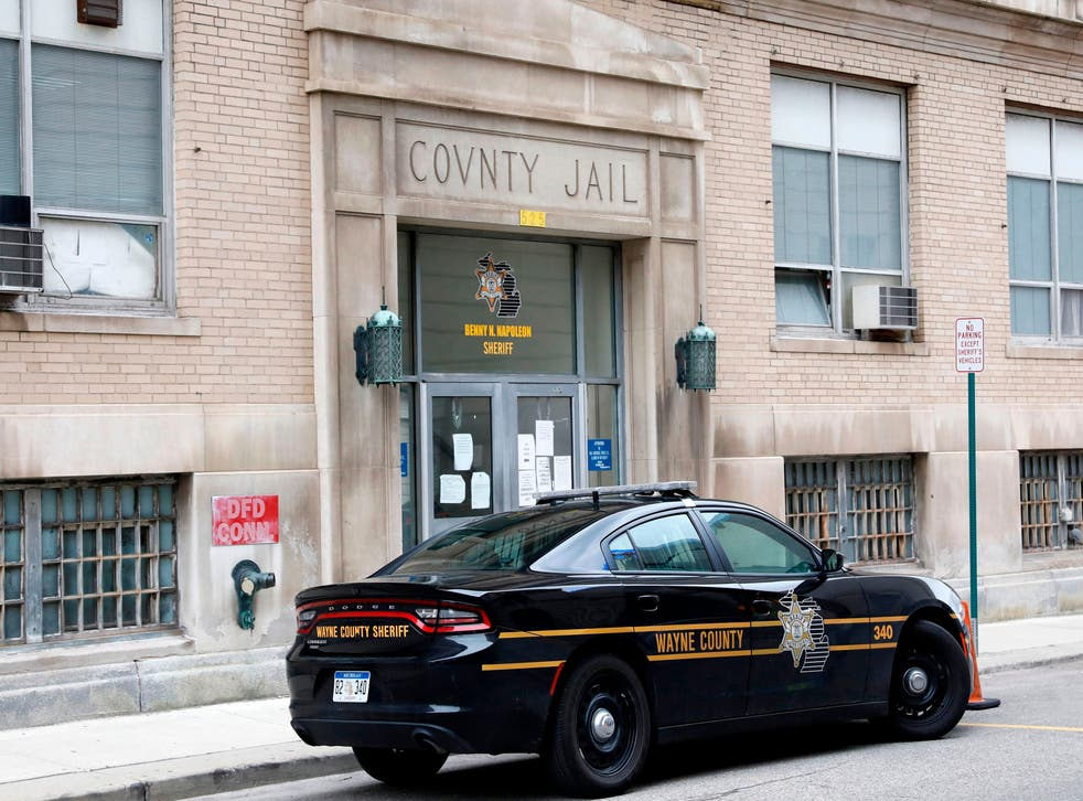 <p>Wayne County Jail in downtown Detroit is pictured, Michigan on March 30, 2020. </p>