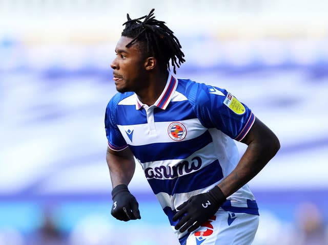 Omar Richards in action for Championship side Reading