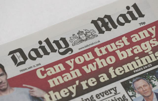 A copy of the Daily Mail