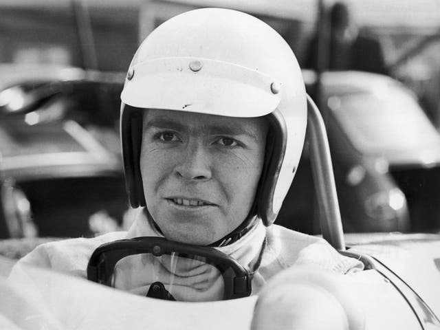 <p>Mosley pictured in 1968, at the start of his motor racing career</p>