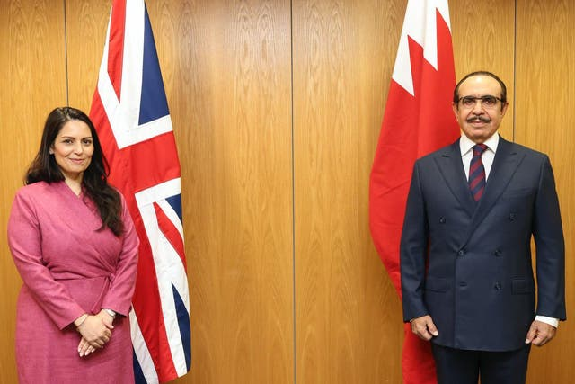 <p>The home secretary refuses to publicly criticise Bahrain, seen as a vital security partner</p>
