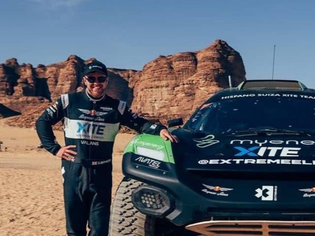 <p>Extreme E driver Oliver Bennett</p>