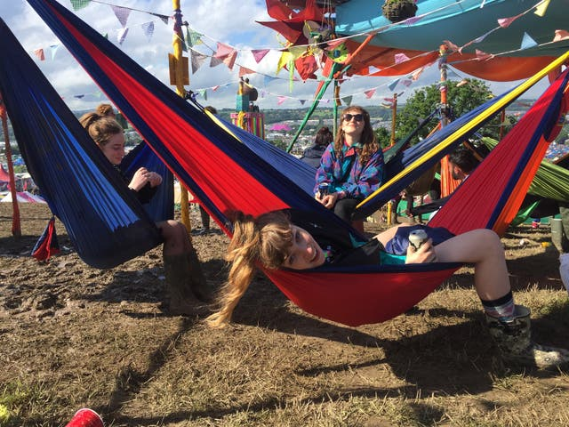 <p>Summer of Love: Lead singer Jules met her fiancé Max at a festival</p>