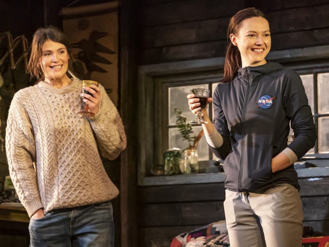 <p>Gemma Arterton (left) and Lydia Wilson as twin sisters Stella and Cassie</p>