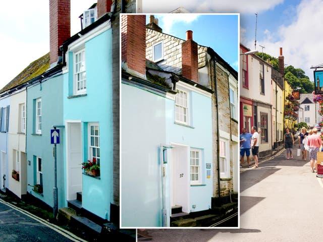 <p>The slim house on Duke Street in Padstow, Cornwall </p>