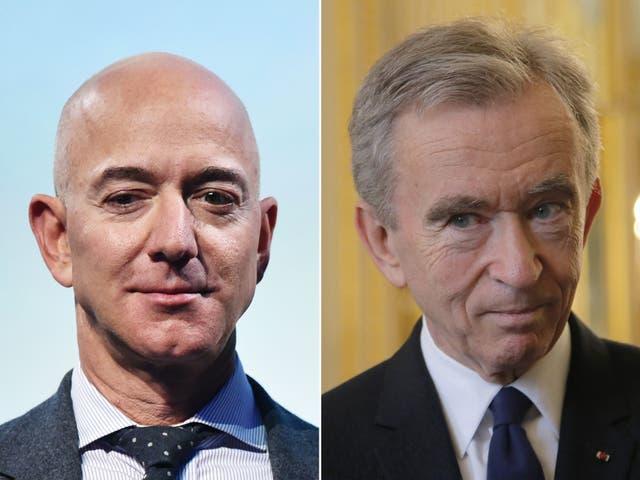 <p>Jeff Bezos represents US tech and Bernard Arnault is a symbol of luxury</p>