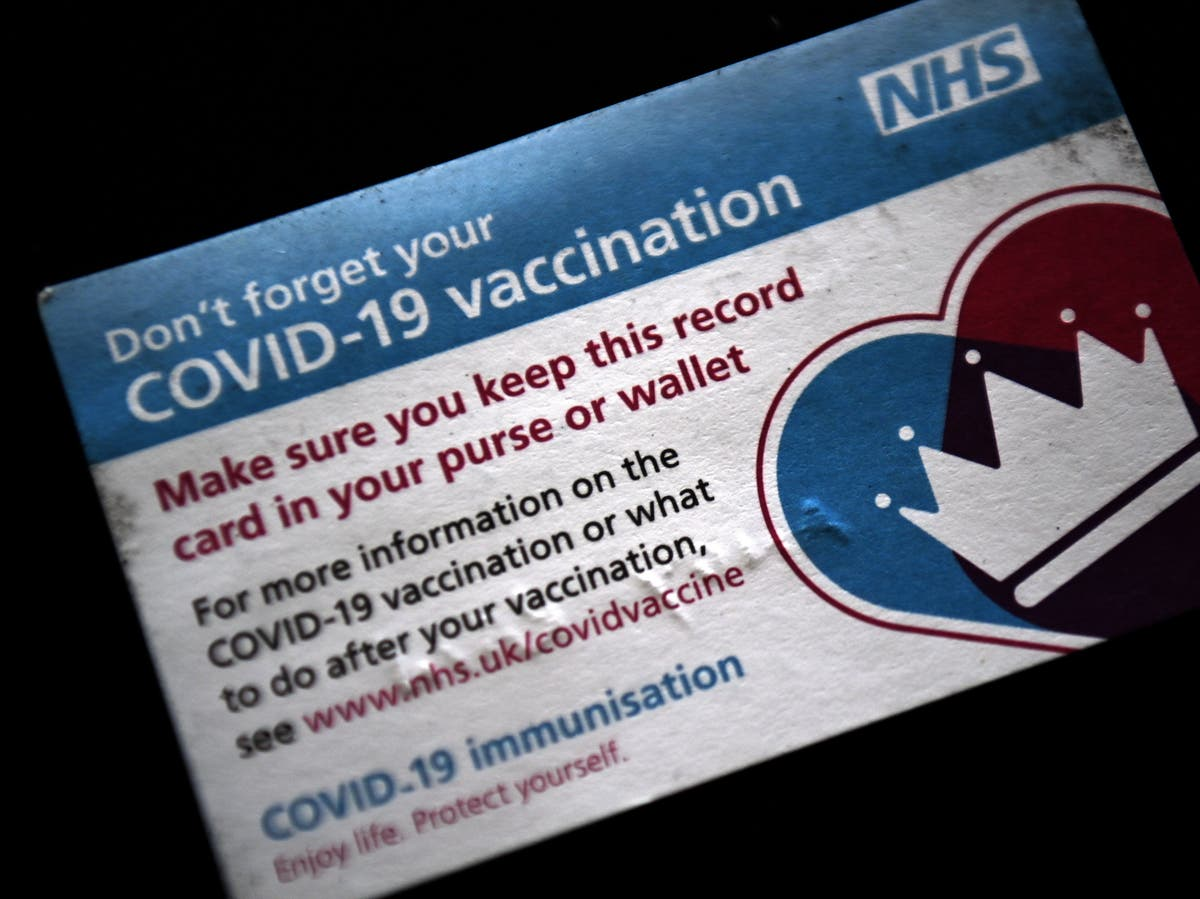 Domestic vaccine passport plans set to be scrapped by government, report says