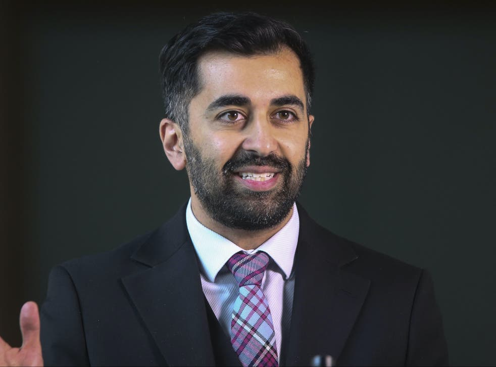 <p>Scottish health secretary Humza Yousaf was filmed falling off his knee scooter </p>